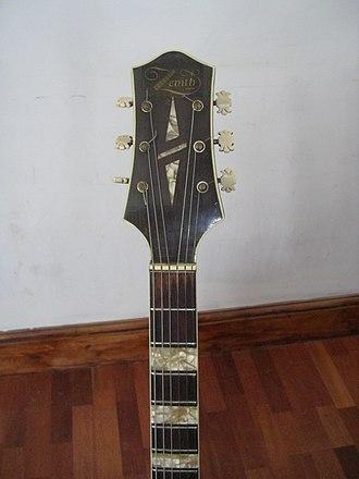 Ivor Mairants - Zenith guitar headstock and neck