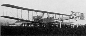 "Zeppelin-Staaken R.VI - The first Zeppelin-Staaken ""giant"" bomber, the VGO.I of 1915."