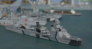 German World War II destroyers - Model of the Zerstörer 1938B class