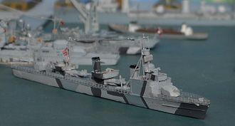 German World War II destroyers - Model of the Zerstörer 1938B class
