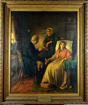 """Fading away"". Oil painting attributed to E. Kennedy. Wellcome L0019666.jpg"
