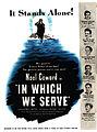"""""""In Which We Serve"""" Advertisement 1943.jpg"""