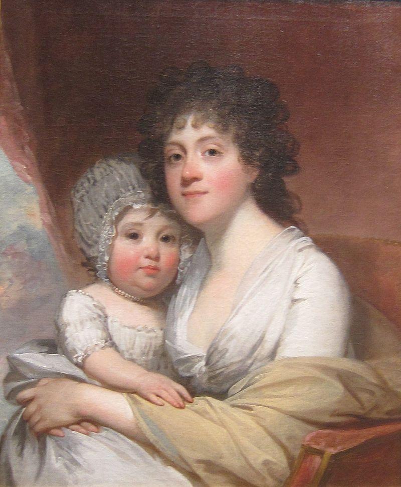 'Mrs. Samuel Gatliff and Daughter Elizabeth' by Gilbert Stuart, c. 1798.JPG