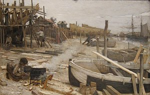 Jean-Charles Cazin - The Boatyard