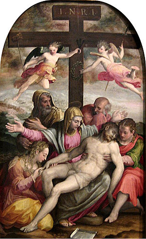 Bolognese School - Deposition of Christ by Prospero Fontana, 1563