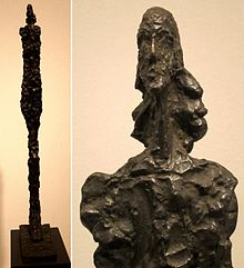 'Woman of Venice VII', bronze sculpture by Alberto Giacometti, 1956, Art Gallery of New South Wales.jpg