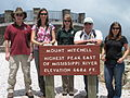 (L-R) Brian Cole, Sue Cameron, Chris Kelly, Leo Miranda, Mara Alexander at Mount Mitchell (7651432148).jpg