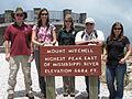 (L-R) Brian Cole, Sue Cameron, Chris Kelly, Leo Miranda, Mara Alexander at Mount Mitchell (7651432148).jpg