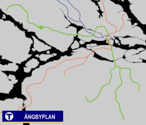 Ängbyplan metro station - Image: Ängbyplan Tunnelbana