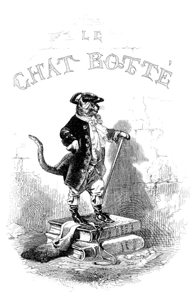 Illustration of Puss in Boots.