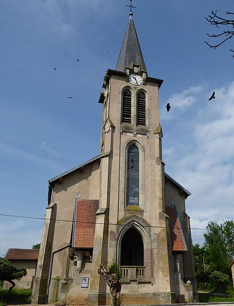 Église Saint-Martin de Brin-sur-Seille en Meurthe-et-Moselle (France).