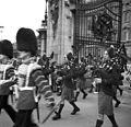 Ünnepi felvonulás a Buckingham Palota előtt. Fortepan 54195.jpg