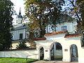 Żelechów - kościół parafialny pod wezwaniem Zwiastowania Najświętszej Marii Panny i ogrodzenie AL01.jpg