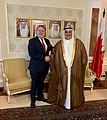 Συνάντηση ΥΠΕΞ Γ. Κατρούγαλου με με ομόλογό του Μπαχρέιν Shaikh Khalid bin Ahmed bin Mohammed Al Khalifa (48054149712).jpg