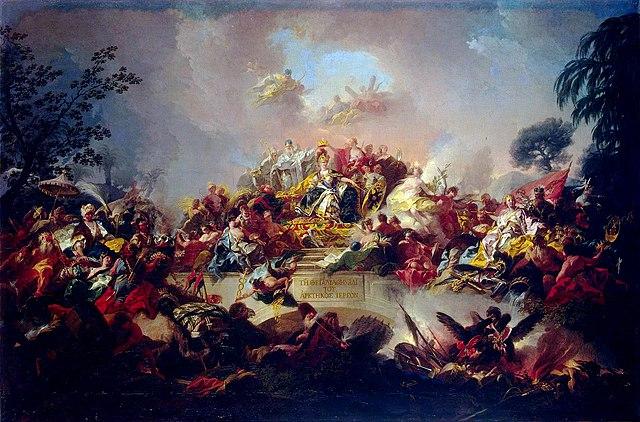 «Апофеоз царствования Екатерины II». Худ. Г. Гульельми. 1767
