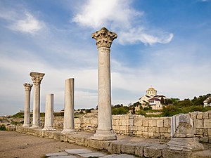 Crimea - Ruins of ancient Greek colony of Chersonesos