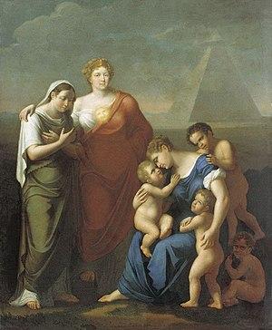 Józef Oleszkiewicz - Maria Feodorovna Caring for the Poor (1812)