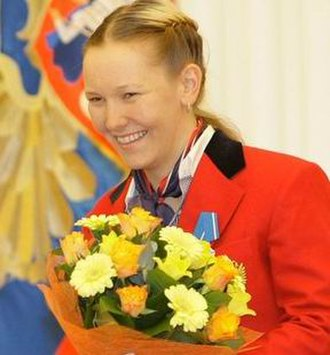 2010 Winter Paralympics medal table - Image: Параолимпийская чемпионка Бурмистрова Анна Александровна 2010