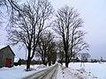 Шоссе Р86 в Залве (зима) Autoceļš P86 ziemā - panoramio.jpg