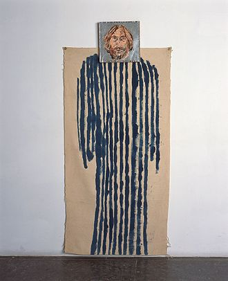 """Coat of many colors - """"Coat of Many Colors"""" (1981) a painting by Michael Sgan-Cohen, the Israel Museum Collection, Jerusalem"""