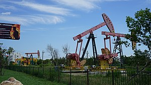 Sartu District - pumpjacks of No.1 Oil Production Plant