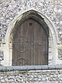 -2020-11-12 Doorway, west facing elevation, All Saints, Upper Sheringham.JPG
