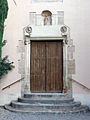 007 Sant Jeroni de la Murtra, capella de Sant Sebastià, portal.JPG