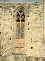 018 Monestir de Sant Cugat, façana sud, finestral gòtic.JPG