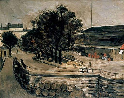 Paul Cézanne la halle aux vins 1872 Art museum Portland