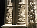 027 Església de Sant Martí (València), portada principal, columnes.JPG