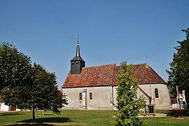 The church of Saint-Fiacre, in Lugny-Champagne