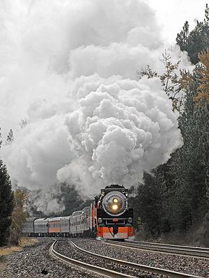 Southern Pacific 4449 - Along the Kootenai, west of Troy, Montana, 2009
