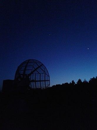 Ondřejov Observatory - Image: 10 m radio telescope (Ondřejov observatory)
