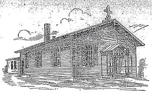 Ronald Reagan Building and International Trade Center - Bethany Chapel in a drawing from the 8/15/03 Post. A mission of New York Avenue Presbyterian Church, it was built in 1874 and appears to have been razed for the construction of Federal Triangle.