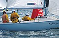 141100 - Sailing Australia 3 person keelboat action 7 - 3b - 2000 Sydney race photo.jpg