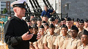 Steven S. Giordano - Image: 160908 N OT964 157 MCPON Steven S. Giordano orating in Boston, Massachusetts