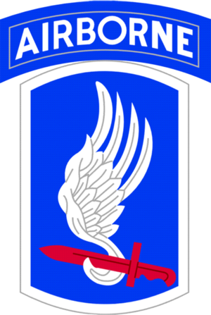 Anthony Herbert (lieutenant colonel) - Image: 173Airborne Brigade Shoulder Patch