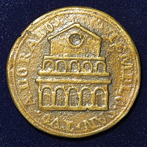 Pope Gregory III - Pope Gregory III – Papal medallion of the 8th century – reverse.