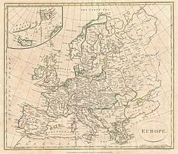 1799 Clement Cruttwell Map of Europe - Geographicus - Europe-cruttwell-1799.jpg