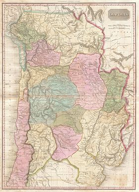 1818 Pinkerton Map of of La Plata (Southern South America, Argentina, Chile, Bolivia) - Geographicus - LaPlata-pinkerton-1818.jpg