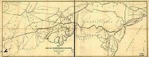 Pittsburgh, Fort Wayne and Chicago Railway - 1850 map of the Ohio and Pennsylvania Railroad
