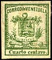 1862 Cuarto c Venezuela Yv5 Mi4.jpg
