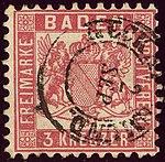 1862issue 3kr Baden Neckargemünd Mi18.jpg
