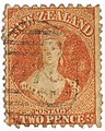 1871 New Zealand Queen Victoria 2 pence vermilion.jpg