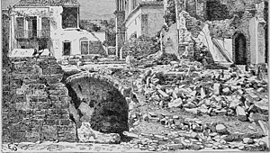 1881 Chios earthquake - View after 1881 earthquake.