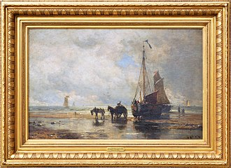 Harry Chase (artist) - Image: 1884 Harry Chase Low Tide Dutch Coast