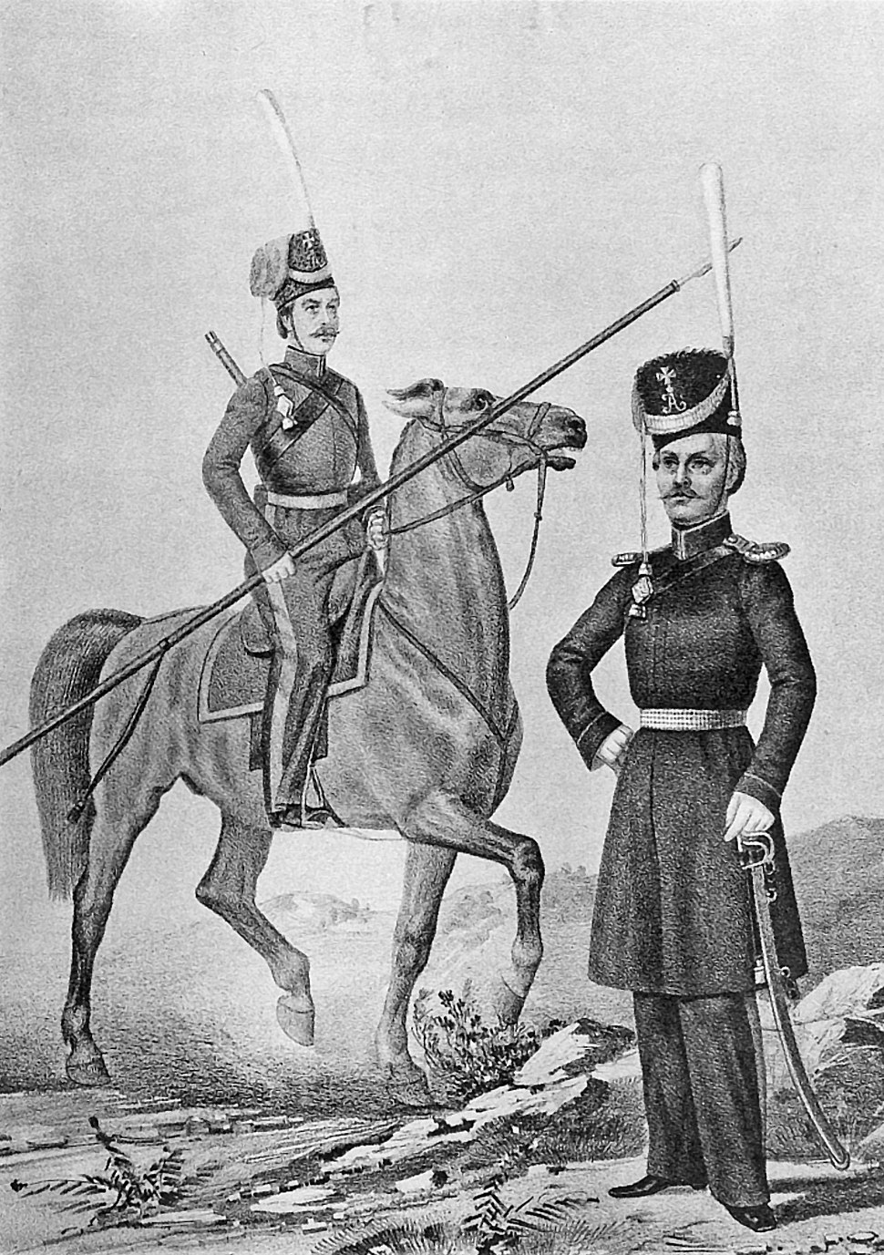18 2530 Book illustrations of Historical description of the clothes and weapons of Russian troops