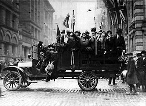 Armistice day celebrations in toronto, canada in 1918