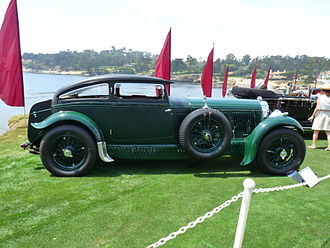 Pebble Beach Concours d'Elegance - 1930 Bentley Speed Six Nutting Coupe,  2009 Concours. This car once belonged to Woolf Barnato,  Kimberley diamond heir and three-time winner of the 24 Hours of Le Mans race.