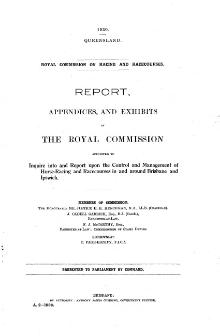 1930 QLD Royal Commission into Racing Report.djvu